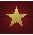 Golden star icon vector image
