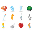 Icons for medicine vector image
