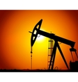 image of oil derricks on the ground vector image