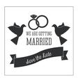 Married design Wedding icon Flat vector image