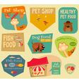 Pet Shop Stickers vector image