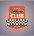 Racing club badge vector image