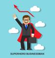 successful businessman superhero vector image