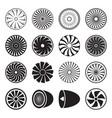 turbine icons vector image