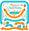 Set of retro ribbons and labels with Christmas vector image vector image