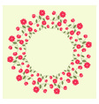 Ornamental wreath vector image