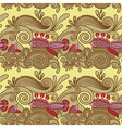 ornate seamless pattern with fish and wive vector image vector image