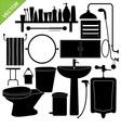 Bathroom silhouette vector image