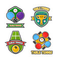 ping pong table tennis club and tournament award vector image