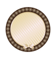 lace biege round frame vector image