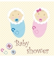 Twins Baby Boy And Girl vector image vector image