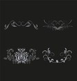 Silver Floral for design vector image
