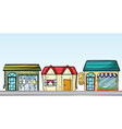 Business establishments vector image vector image
