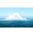 Arctica seascape with iceberg vector image