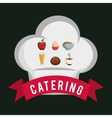 Catering food service chef hat shape breakfast vector image