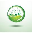 Green city2 vector image