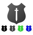 guard shield flat gradient icon vector image