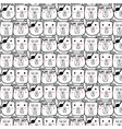 hand drawn bear pattern vector image