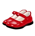 red shoes for girls vector image