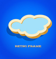 Retro card with cloud sign vector image