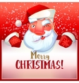 Santa winks and greetings vector image