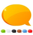 Set of 7 speech bubble symbol in different colors vector image