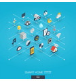 smart home integrated 3d web icons digital vector image