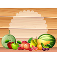 Frame design with many fruits vector image