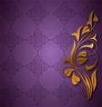Ornamental purple background vector image