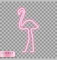 neon flamingo symbol vector image