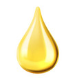 transparent oil drop vector image vector image
