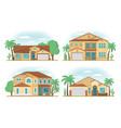 set of frontview of usa arizona style suburban vector image