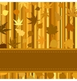 Gold autumn background with leaves EPS 8 vector image vector image