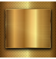 gold metal vector image