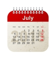 calendar 2015 - july vector image