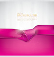 abstract background with pink ribbon vector image