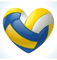 volleyball heart vector image vector image