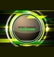 abstract circle green background vector image