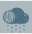 Rainy retro grunge Weather Icon with Type vector image