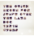 Abstract geometric font vector image
