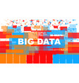 big data concept vector image