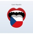 Czech Republic language Abstract human tongue vector image