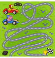 find winner of motor race vector image