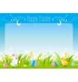 Happy Easter horizontal banner border Spring vector image