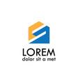 home letter s logo vector image
