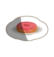 Isolated donut design vector image