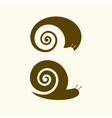 Isolated snail logo Animal sign Simple vector image