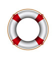 lifebuoy with rope lifebelt realistic vector image