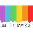 Poster with LGBT support symbol vector image