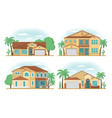 set of frontview of usa arizona style suburban vector image